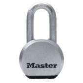 Masterlock 64mm chrome-plated solid steel padlock - 51mm octagonal boron-carbide