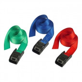 Masterlock Single pack lashing strap 2,50m assorted colors : blue + green + red