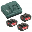 Metabo Basis-set 3x 18 volt 5.2Ah accu's | Pick+Mix