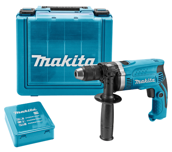 Makita klopboormachine + borenset (18st)