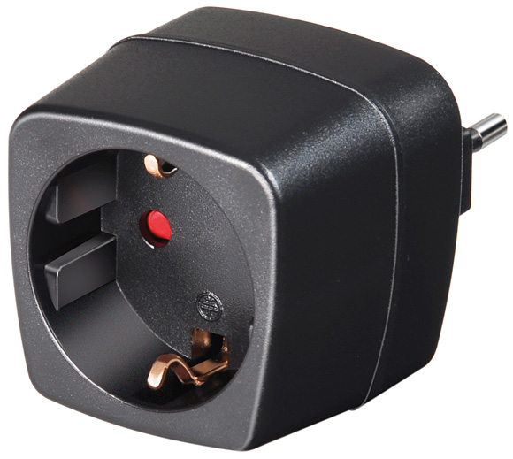 Brennenstuhl Travel Adapter earthed socket-IT, 250V, 10A (1508470)